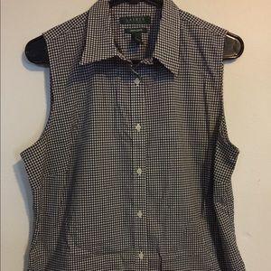Ralph Lauren Non-Iron Large Sleeveless Shirt